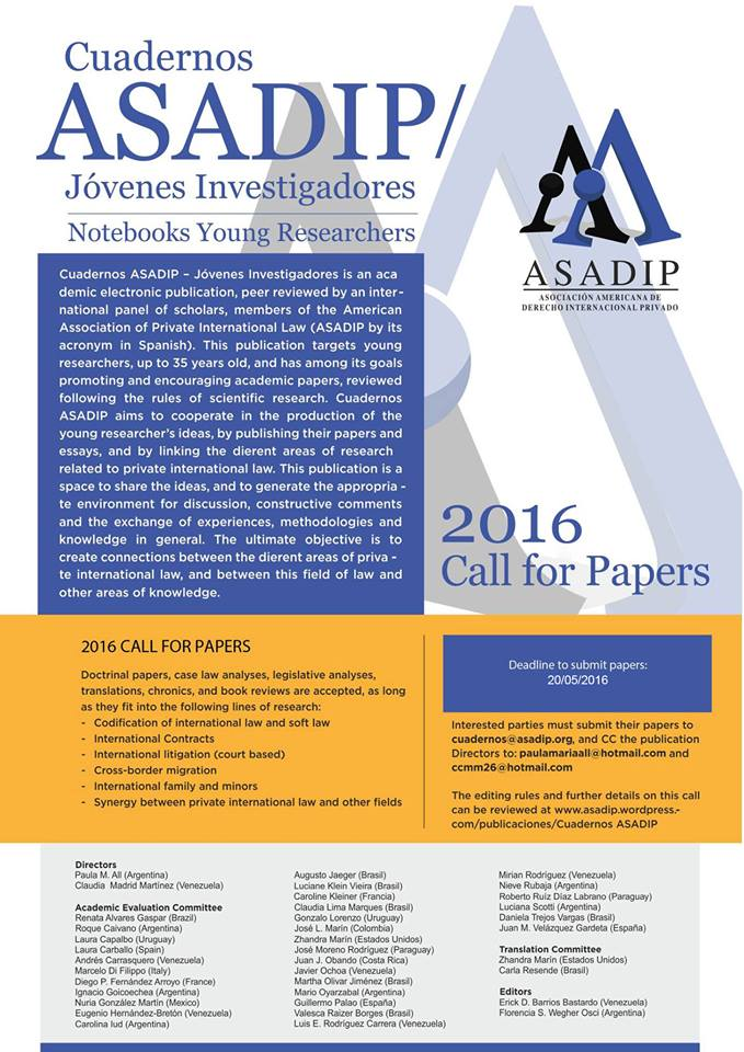 CUADERNOS ASADIP 2 AFICHE MAYO 2016 ingles