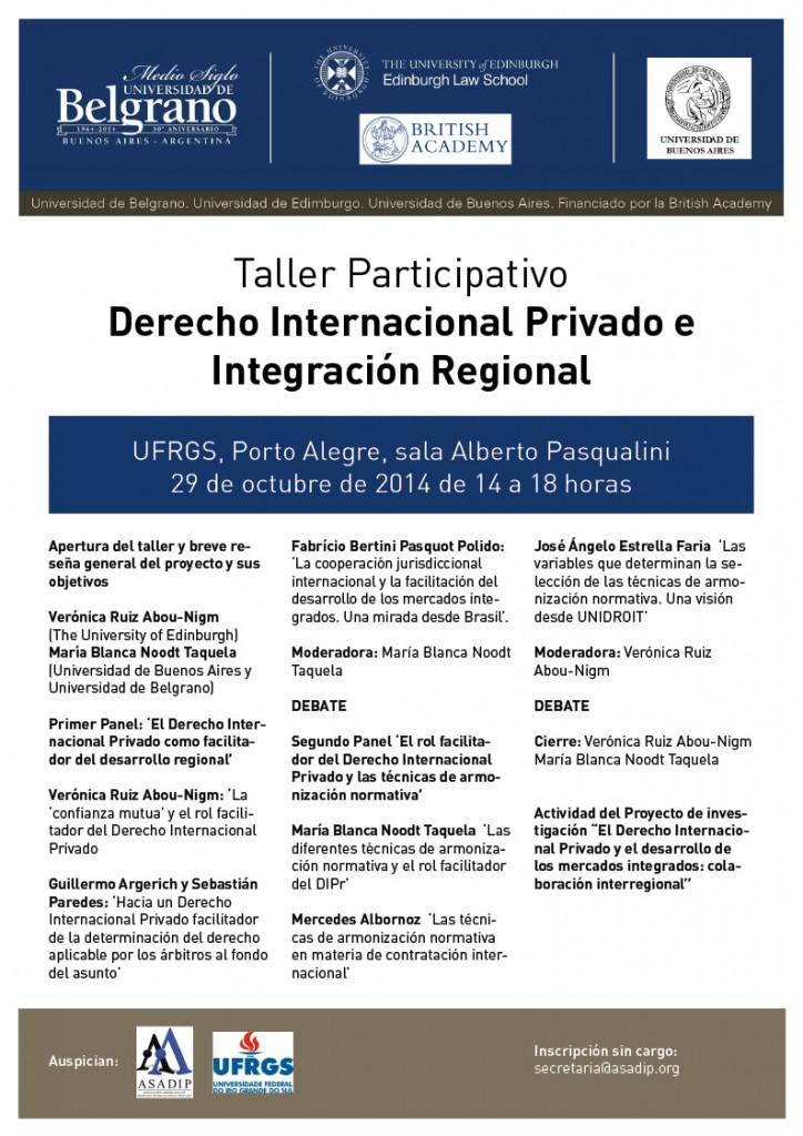 2014 10 29 Taller Porto Alegre