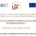 XXVI Jornadas ordinarias de la Asociación Española de Profesores de Derecho Internacional y Relaciones Internacionales