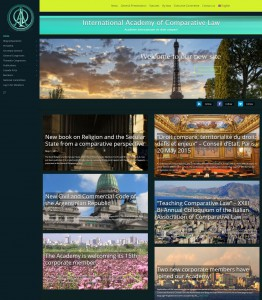 La prestigiosa Academia Internacional de Derecho Comparado (AIDC) actualiza su presencia en los medios online.