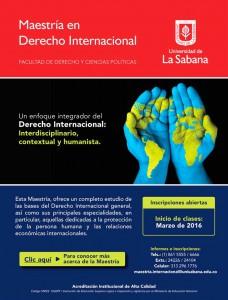 Maestría en Derecho Internacional de la Universidad de La Sabana