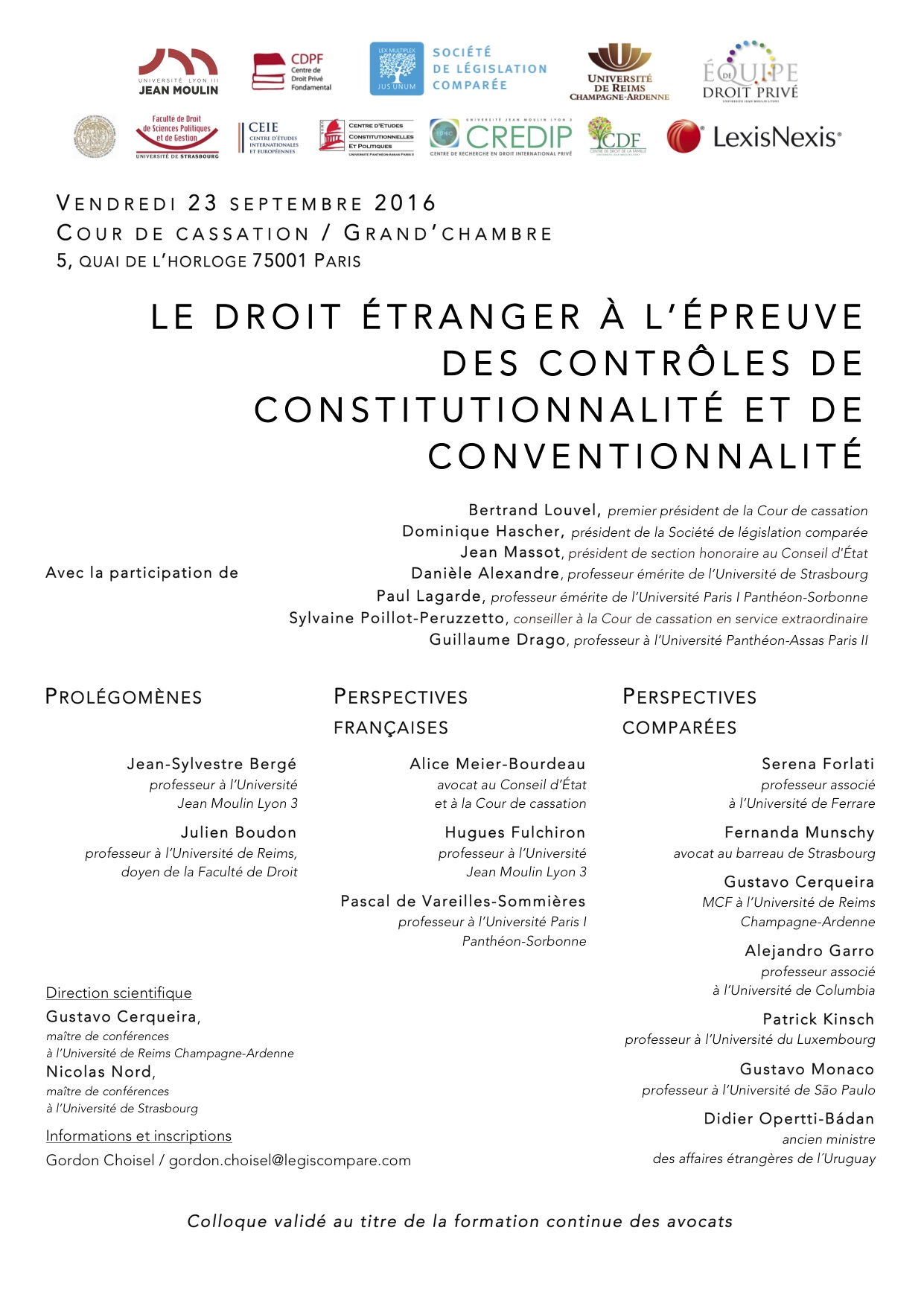 Affiche - Colloque du 23 septembre 2016