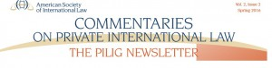 Commentaries on Private International Law  – The Pilig Nesletter