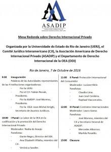 Mesa Redonda sobre Derecho Internacional Privado en el marco del Octogésimo Noveno Período Ordinario de sesiones