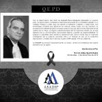 Nota de Condolencia – Prof. Dr. Gonzalo Parra-Aranguren