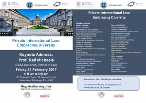 Private International Law: Embracing Diversity